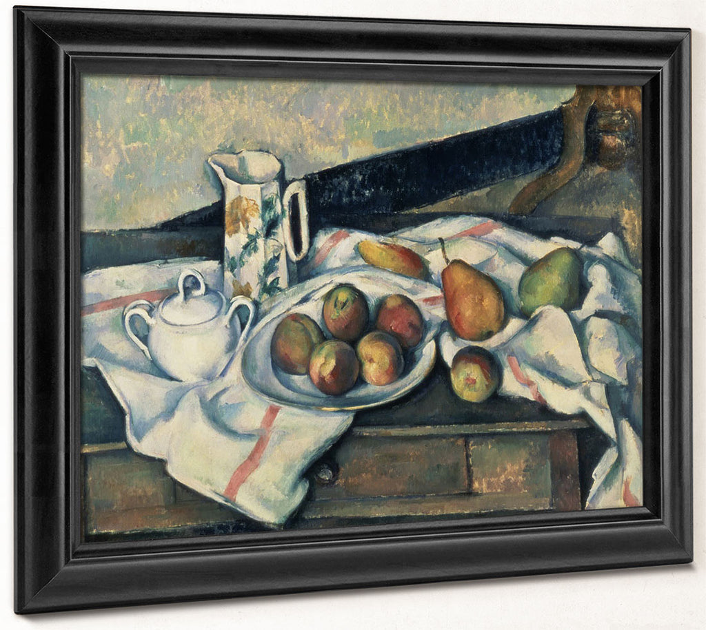 Still Life Of Peaches And Pears 1 By Paul Cezanne
