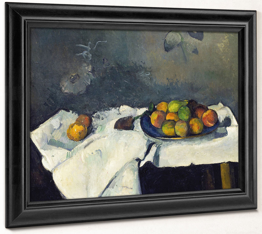 Still Life Plate Of Peaches By Paul Cezanne