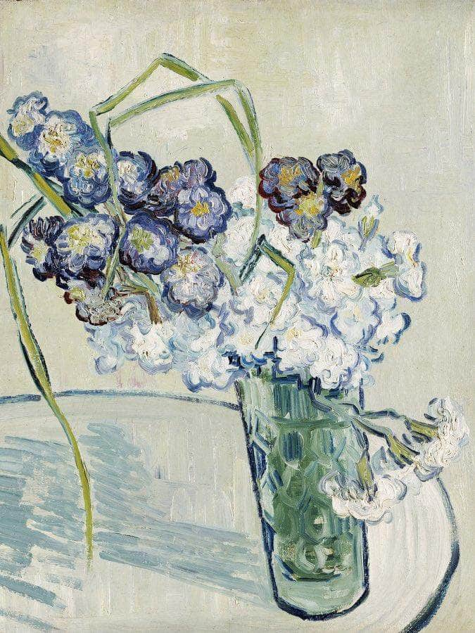 Still Life Vase Of Carnations By Vincent Van Gogh