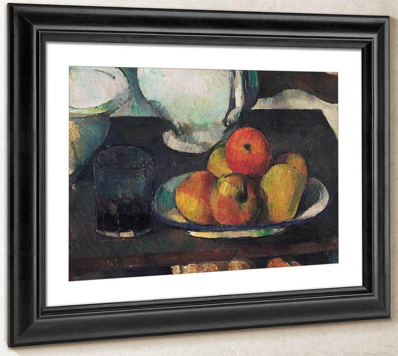 Still Life With Apples And A Glass Of Wine By Cezanne Paul