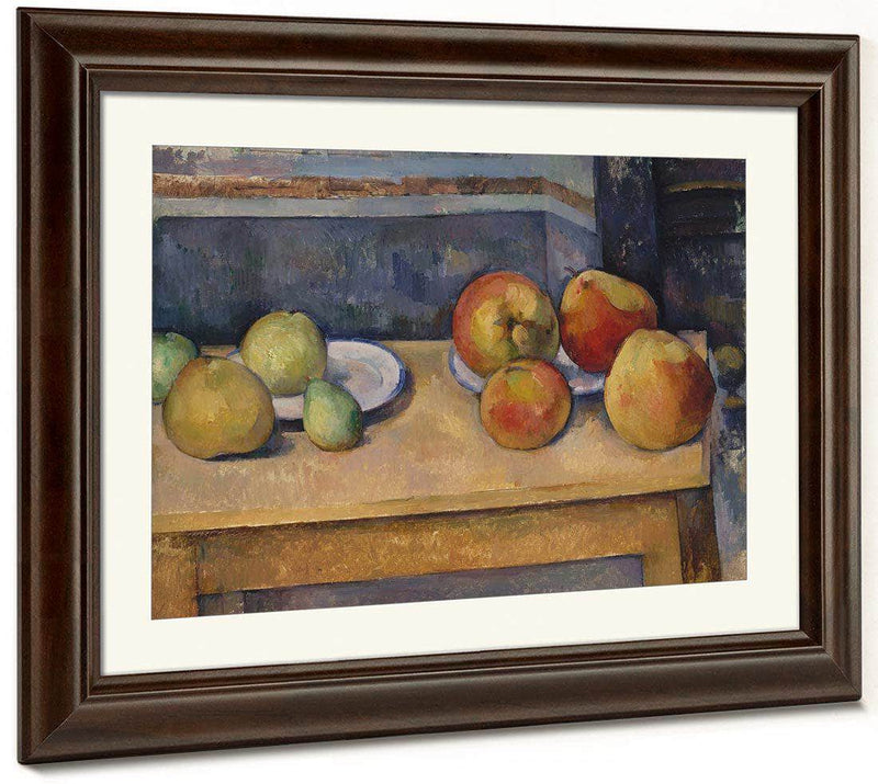 Still Life With Apples And Pears 1892 By Paul Cezanne