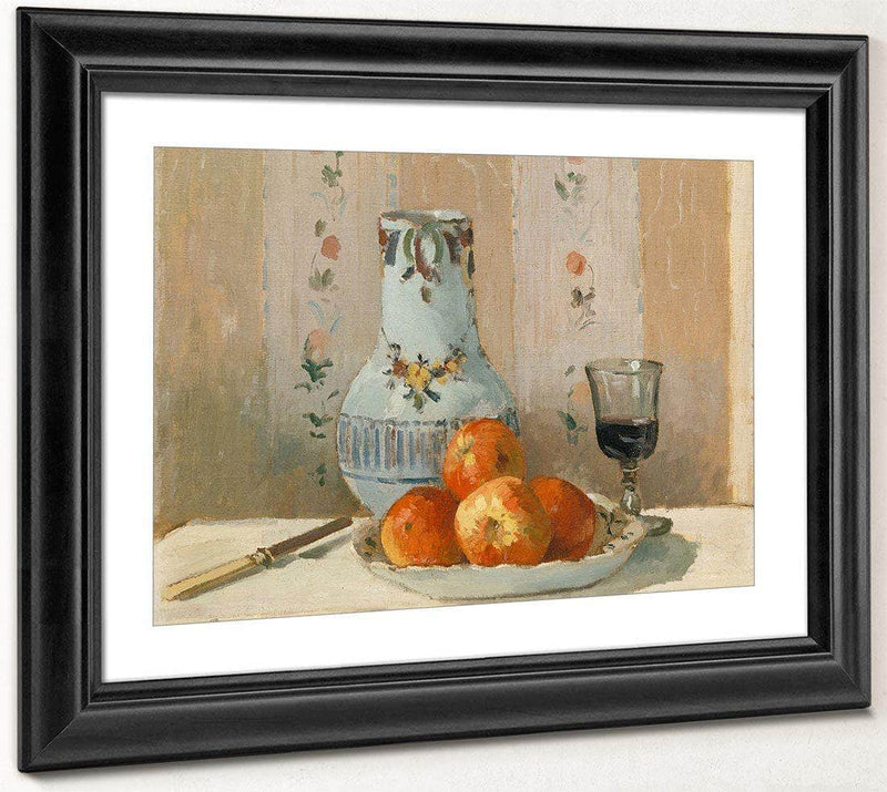 Still Life With Apples And Pitcher 1872 By Camille Pissarro