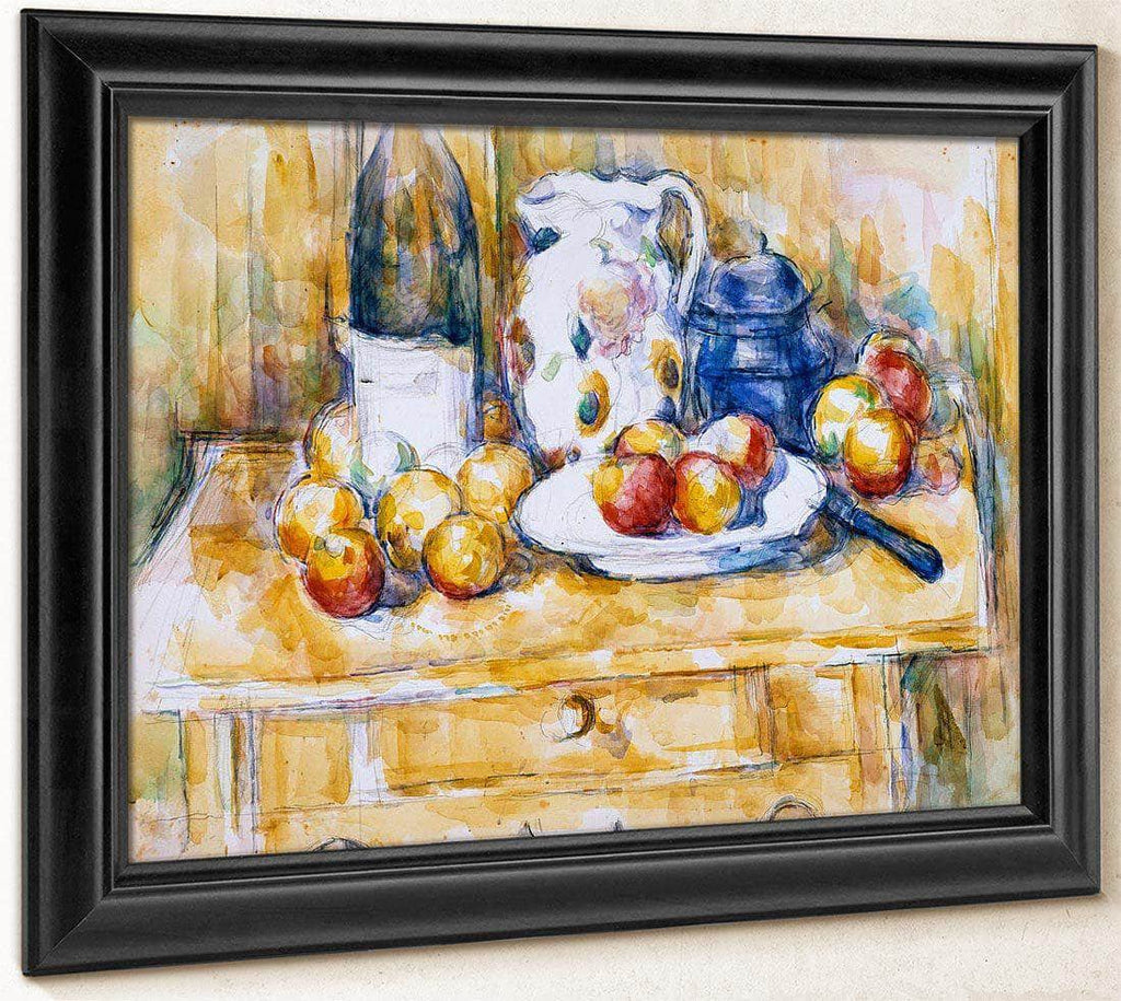 Still Life With Apples On A Sideboard By Cezanne Paul