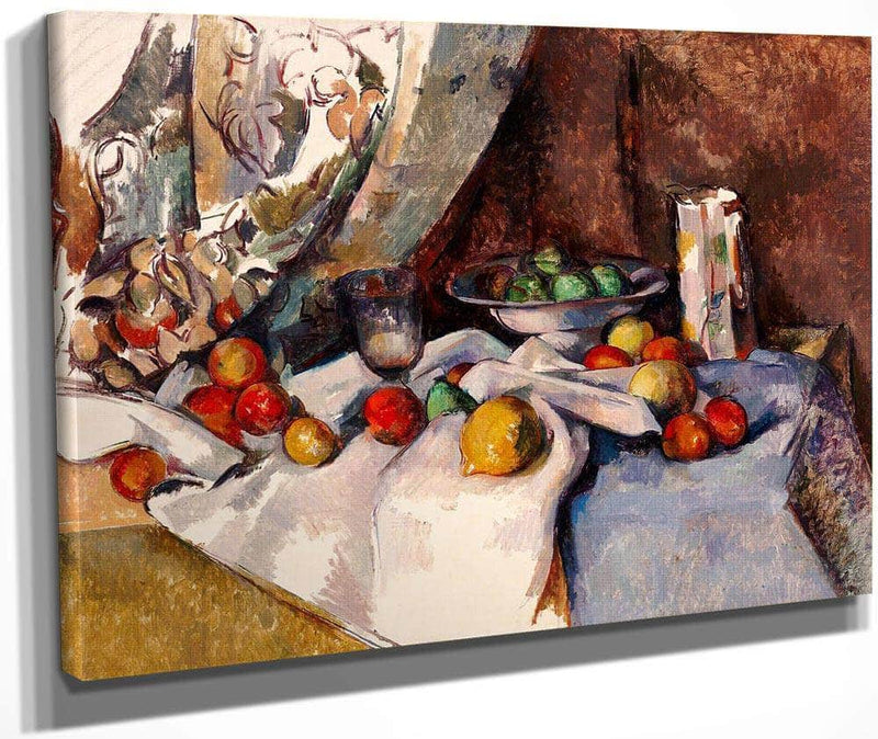 Still Life With Apples By Cezanne Paul