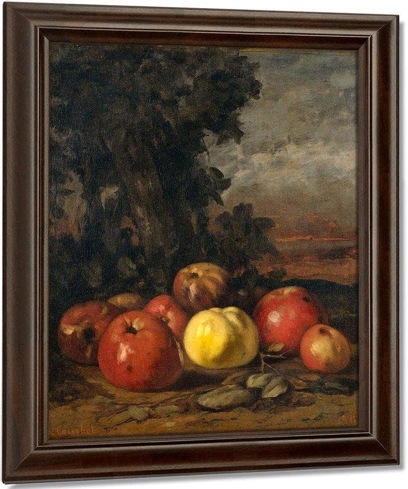 Still Life With Apples By Gusave Courbet
