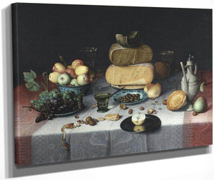 Still Life With Cheeses By Floris Claesz Van Dyck