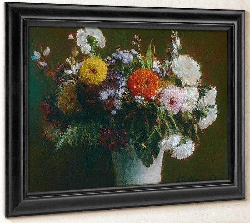 Still Life With Chrysanthemums By Henri Fantin Latour