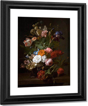 Still Life With Flowers And A Cricket 1700 By Rachel Ruysch