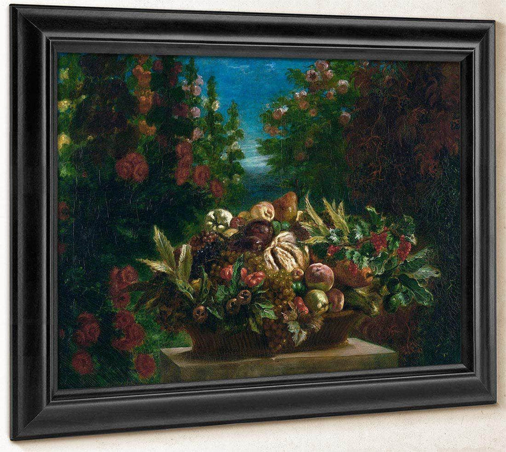 Still Life With Flowers And Fruit By Eugene Delacroix