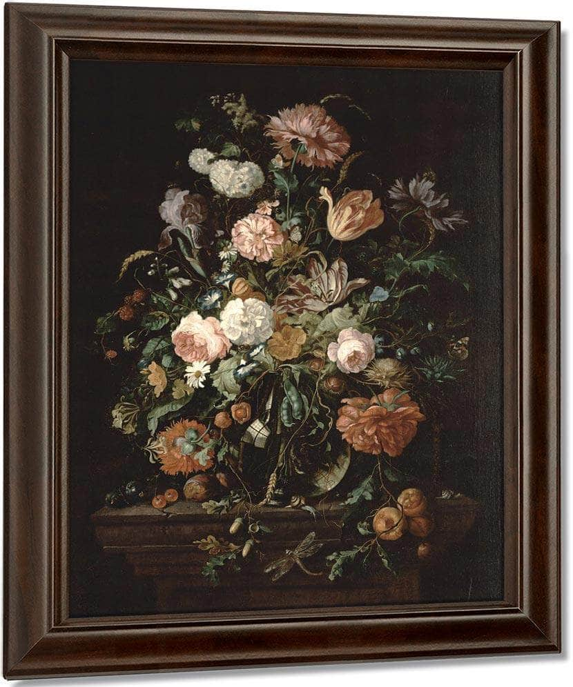 Still Life With Flowers In A Glass Bowl By Jan Davidsz De Heem