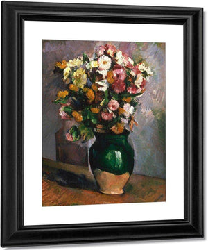 Still Life With Flowers In An Olive Jar By Cezanne Paul