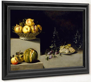Still Life With Fruit And Glassware By Juan Van Der Hamen Y Leon
