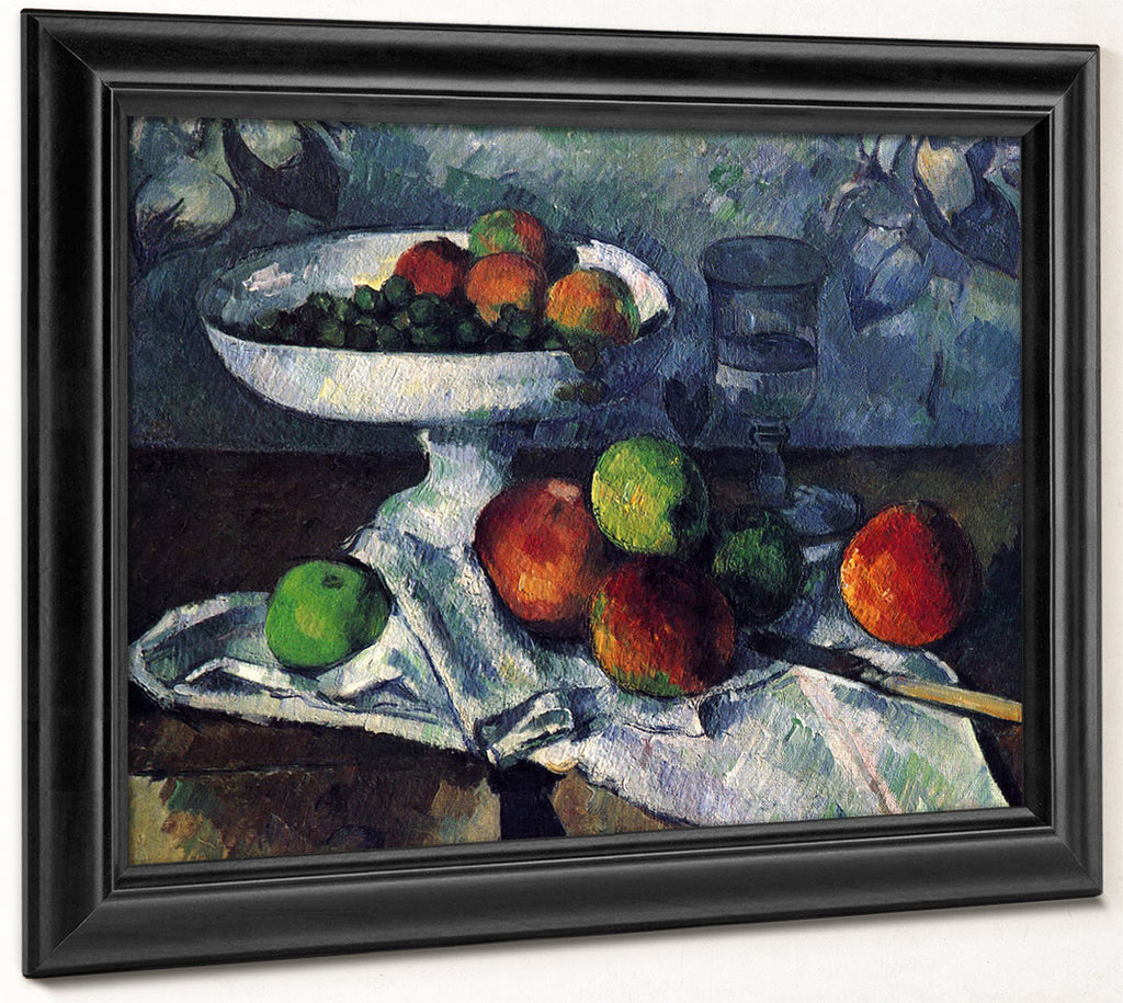 Still Life With Fruit Dish 1879 1880 46X55Cm Museum Of Modern Art By Paul Cezanne