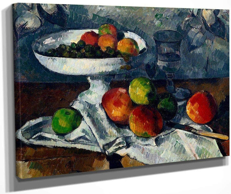 Still Life With Fruit Dish By Cezanne Paul