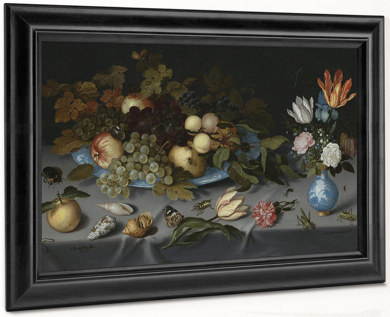 Still Life With Fruits And Flowers By Balthasar Van Der Ast