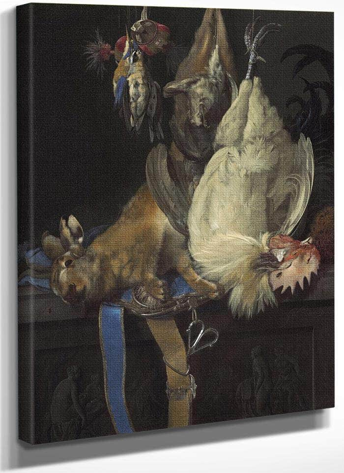 Still Life With Game By Willem Van Aelst