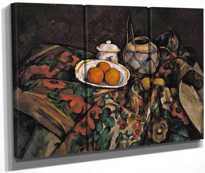 Still Life With Ginger Jar Sugar Bowl And Oranges By Cezanne Paul