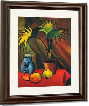 Still Life With Palm Leaves By August Macke