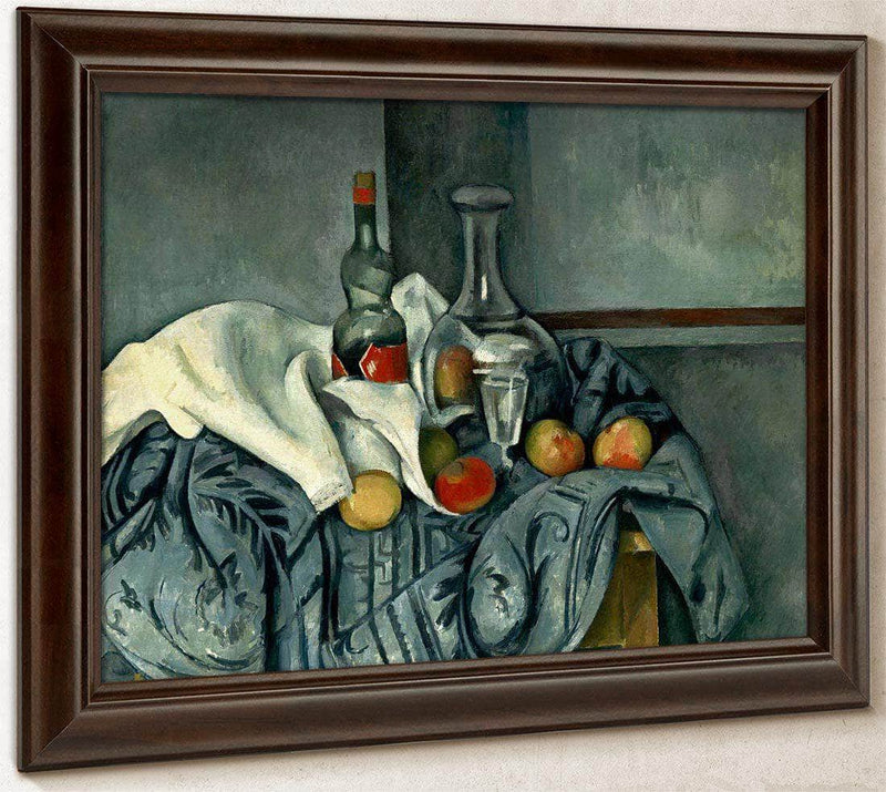 Still Life With Peppermint Bottle By Cezanne Paul