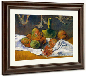 Still Life With Teapot And Fruit 1896 By Paul Gauguin