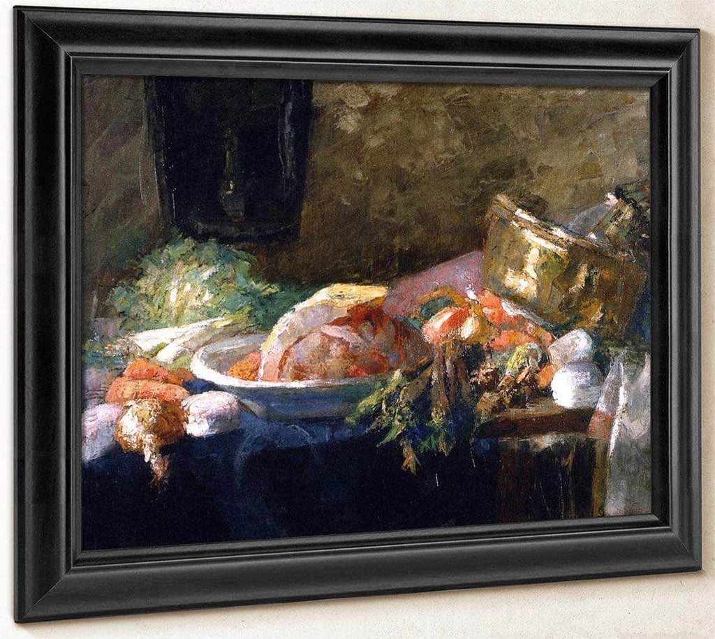 Still Life With Vegetables By James Ensor