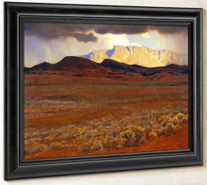 Storm On The Desert By Maynard Dixon