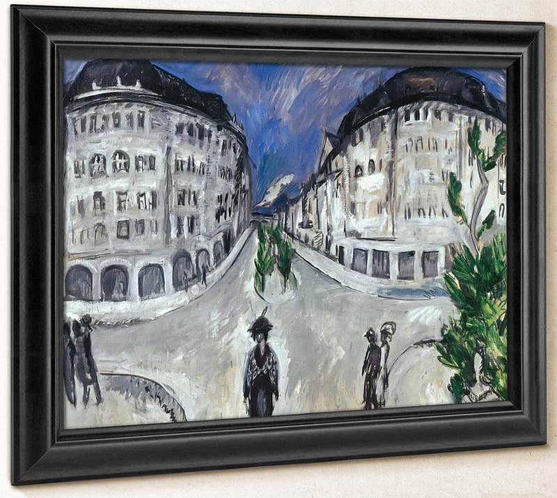 Street By Schoneberg Park By Ernst Ludwig Kirchner