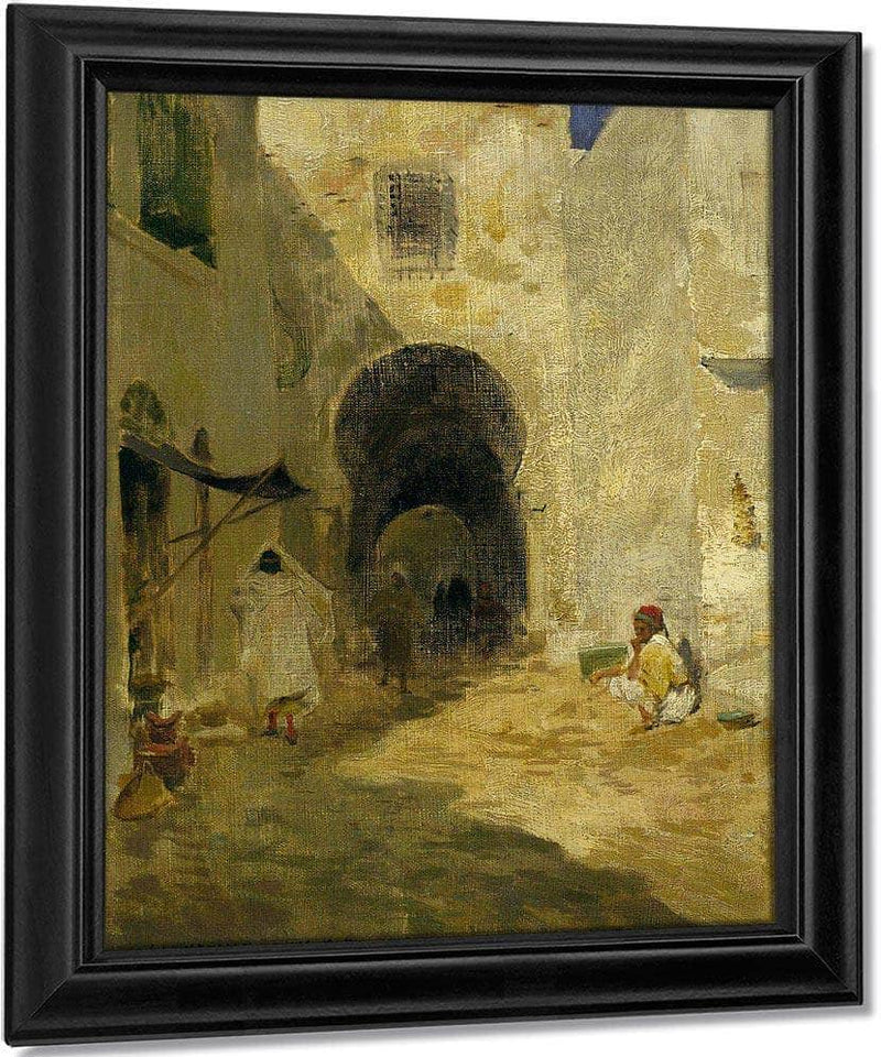 Street Scene Tunis By Willard Leroy Metcalf
