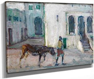 Street Scene, Tangier (Man Leading Calf) By Henry Ossawa Tanner