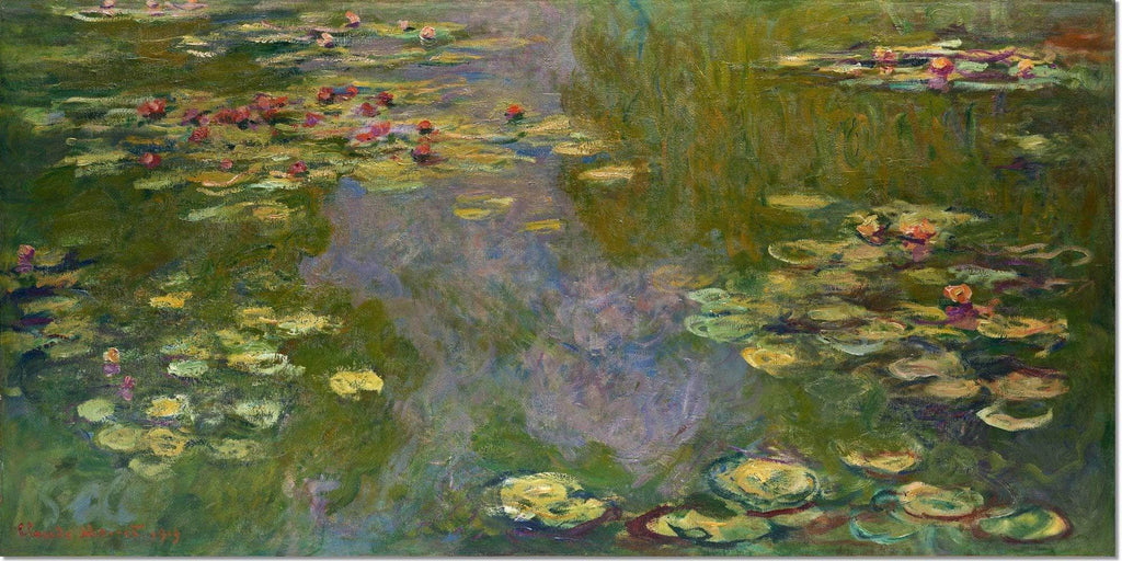 Stretched Canvas Water Lilies Painting Claude Monet Canvas Art