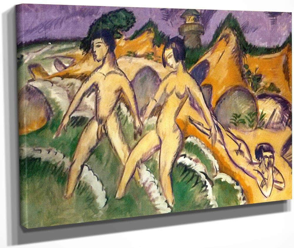 Striding Into The Sea 1912 By Ernst Ludwig Kirchner