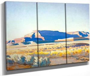 Striped Mesa By Maynard Dixon