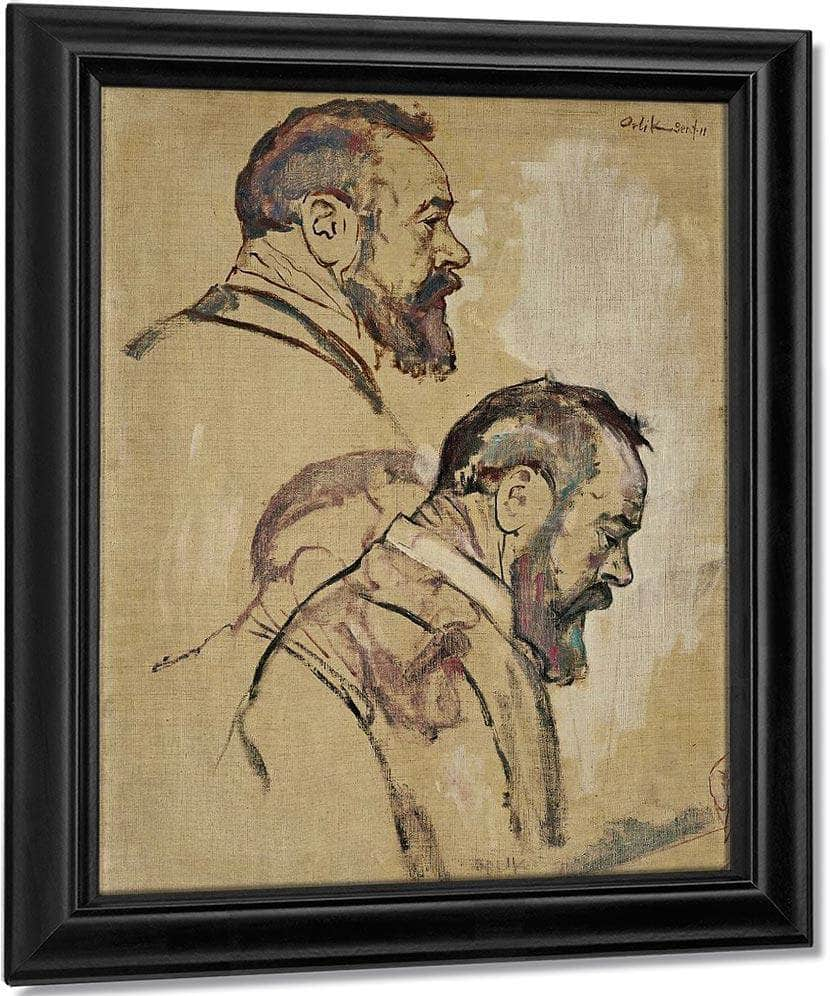Studies Of Self Portrait 1911 By Ferdinand Hodler