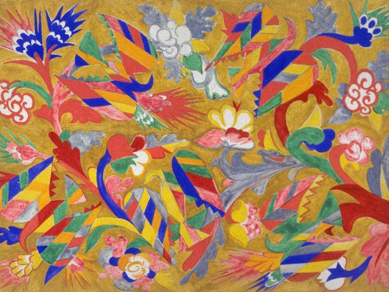 Study For A Curtain For 001039 Le Coq D 001039 Or 001039 1914 By Natalia Goncharova