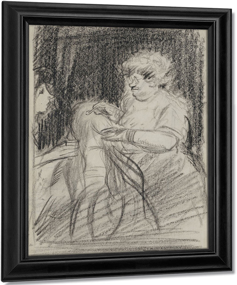 Study For Hairdresser's Window By John Sloan