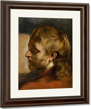 Study For Head Of Saint John The Evangelist By Peter Paul Rubens