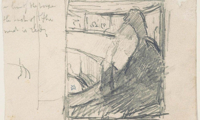 Study For In The Loge By Cassatt Mary