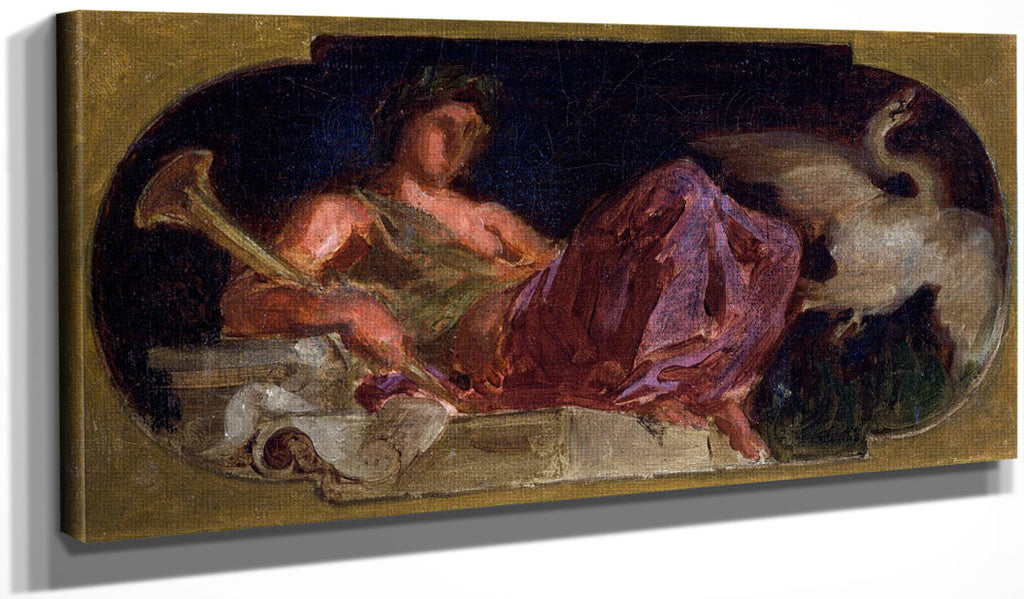 Study For The Muse Cleo By Eugene Delacroix