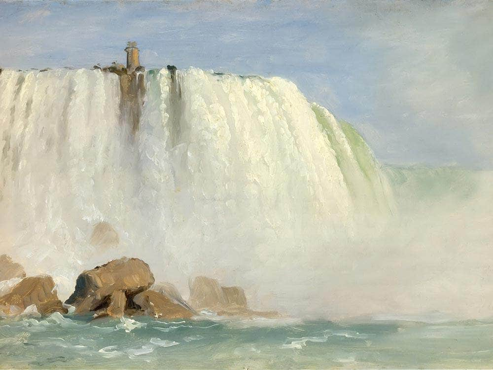 Study For Under Niagra By Frederic Edwin Church