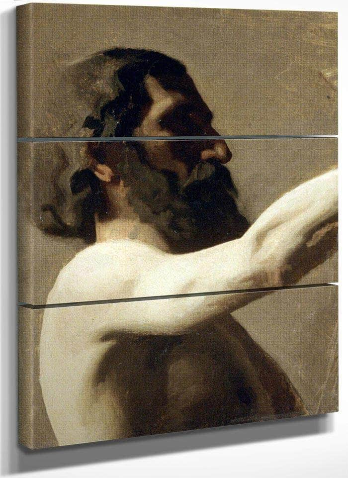 Study Of A Nude Man By  Eakins Thomas