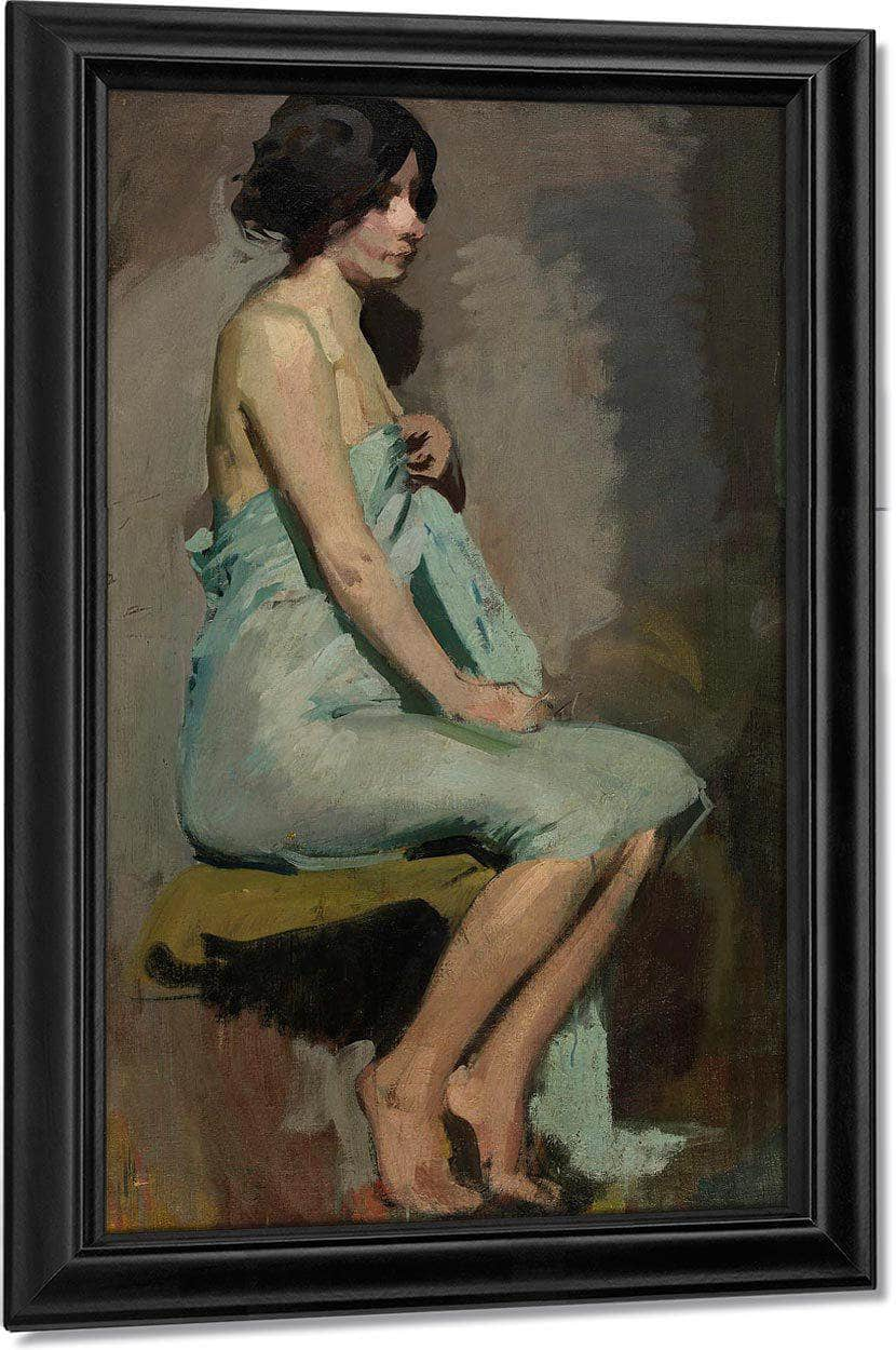 Study Of A Seated Woman By Alice Pike Barney
