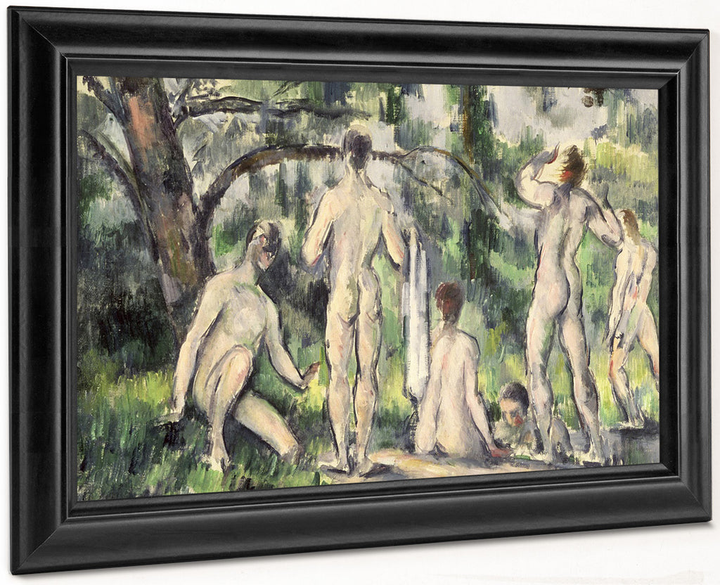 Study Of Bathers 1 By Paul Cezanne