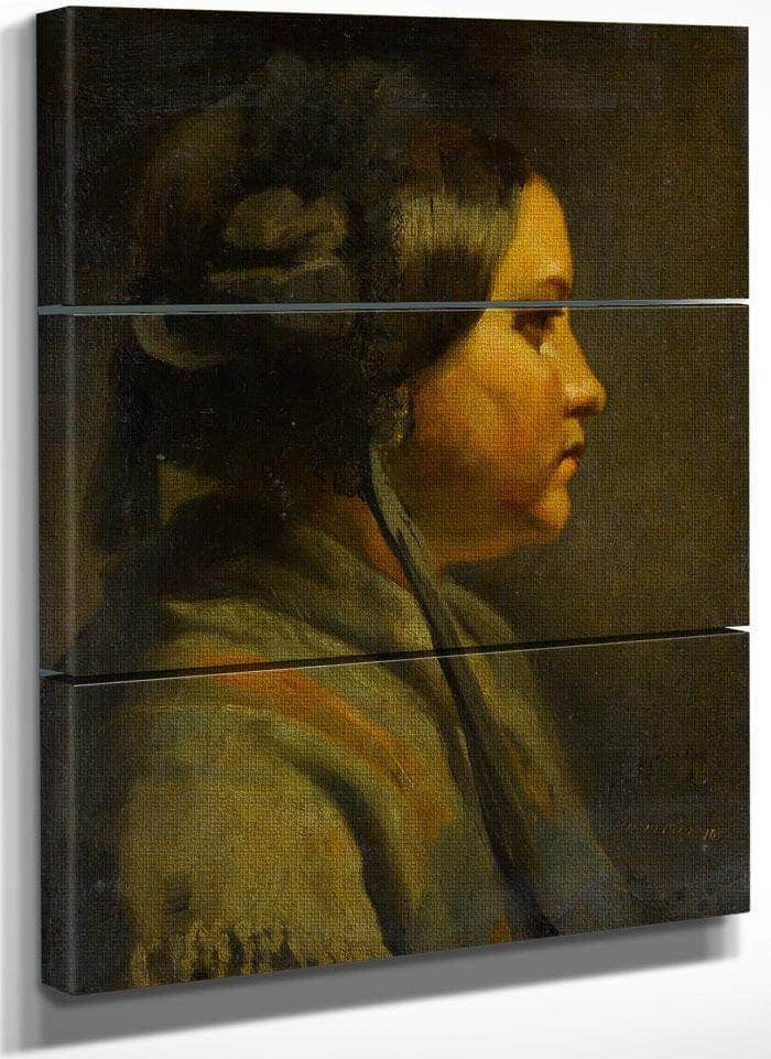 Study Of The Head Of A Young Woman In Profile 1855 By Matthijs Maris
