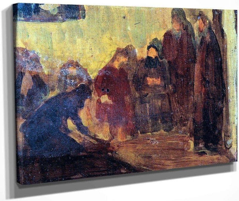 Study, Christ Washing The Feet Of The Disciples By Henry Ossawa Tanner