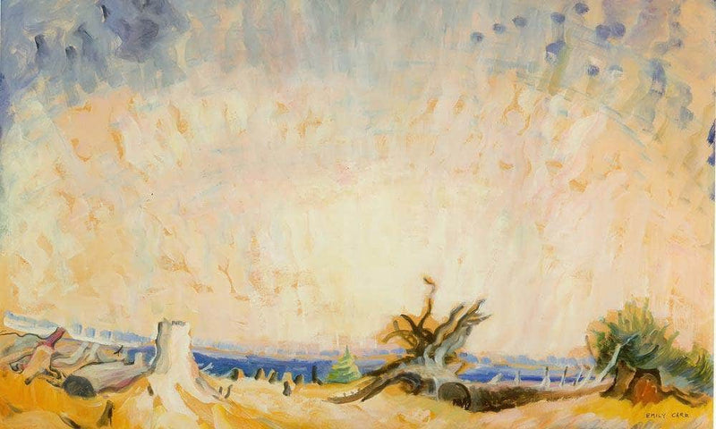 Stumps And By Sky By Emily Carr