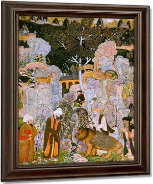 Sufis In A Landscape 1601 G By Farrukh Beg