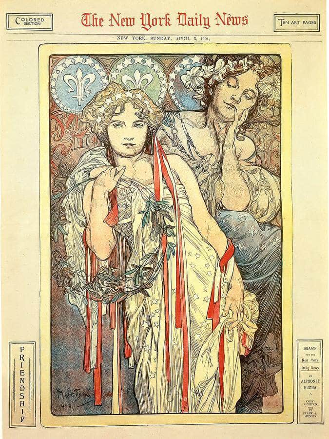 Sunday Art Supplement Devoted To Mucha Ny Times By Alphonse Mucha