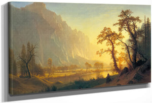 Sundris By Yosemite By Valley By Albert By Bierstadt