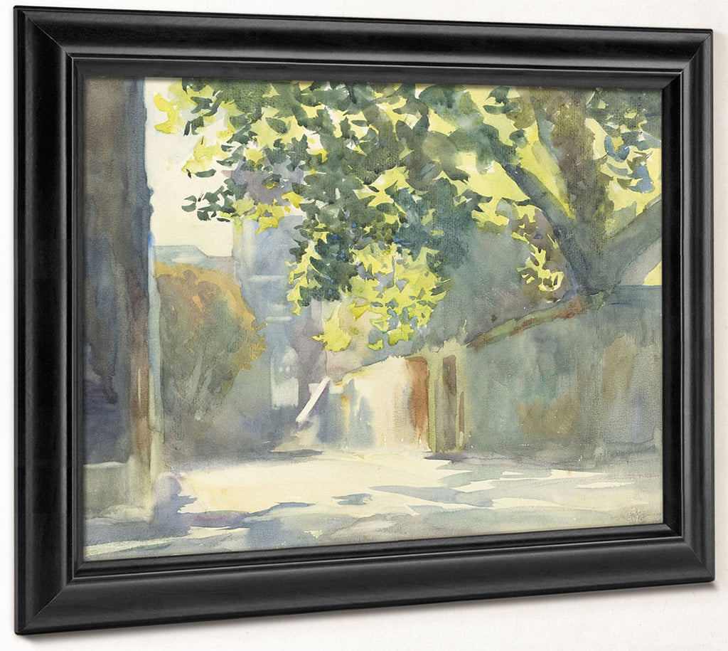 Sunlit Wall Under A Tree By John Singer Sargent