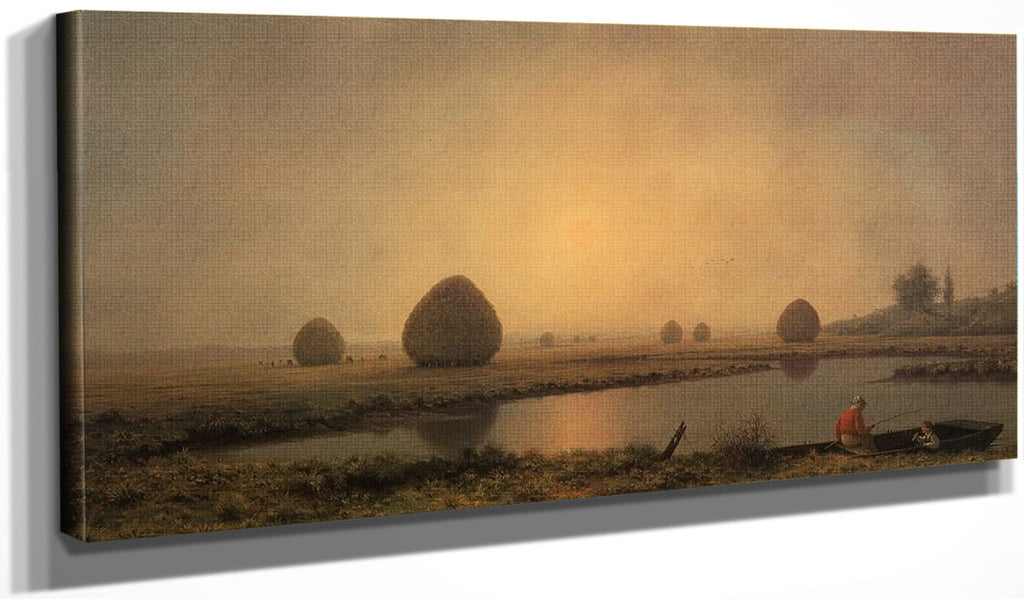 Sunrise On The Marshes By Martin Johnson Heade